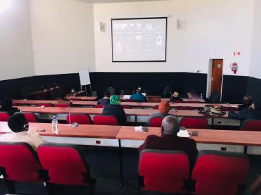 Participants at Site C training centre