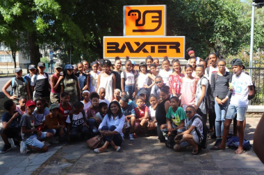 Participants from Atlantis arrive at the Baxter Theatre for the ASGC showcase and graduation