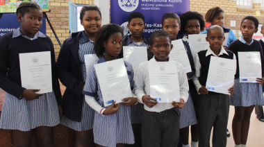 Participants from St Michaels Primary School in Khayelitsha.