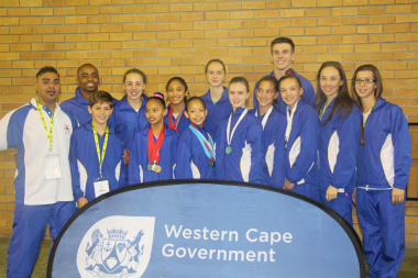 Participants from the Western Cape Gymnastics Association and their coaches.