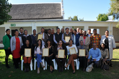 Participants of the Siyenyuka advanced training and mentoring programme.
