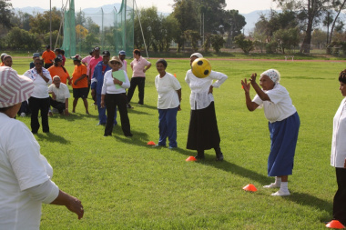 Participants put their ball passing skills to test.