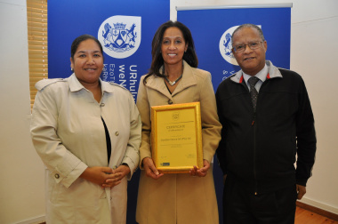 Pat Jenniker (Director Contractor Development Programme), Gloria Josephs and Richard Petersen (Chief Director EPWP).