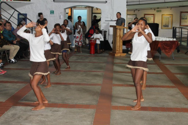 Performance by the Imekhaya Primary School Dance Group