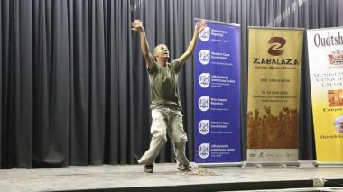 Phillip Botha showcased his amazing talent as a poet.