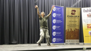 Phillip Botha showcased his amazing talent as a poet.