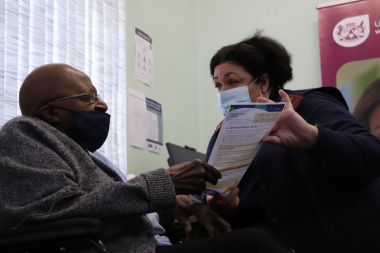 Emeritus Archbishop Tutu getting COVID-19 vaccine