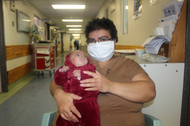 Mom Portia Marcus with baby Britney