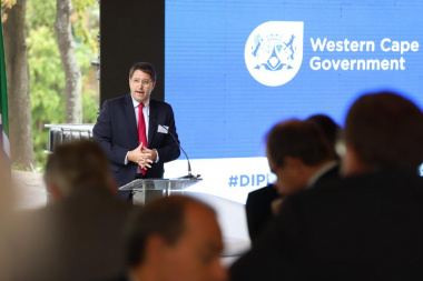 Minister David Maynier speaking at the Premier's Diplomatic Brunch