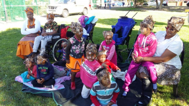 Physically and mentally challenged children enjoyed the day's events in Saldanha