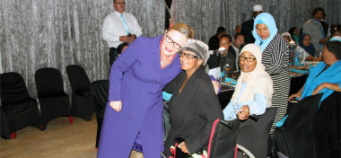 Premier Helen Zille welcoming women who attended the Department's Women's Month Programme at the Athlone Civic on 26 August 2017.