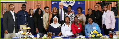 MEC Winde poses with DoCS staff members responsible for the YSRP Project Appreciation event.