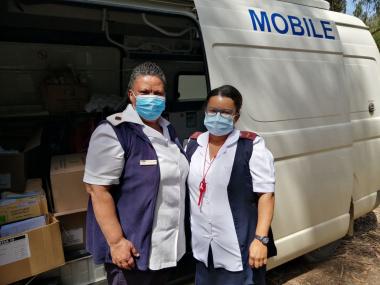 Mayleine Reid and Staff Nurse Melanie Engel