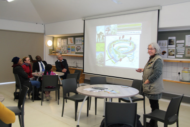 Pippa Haarhoff explained how the fossils were discovered