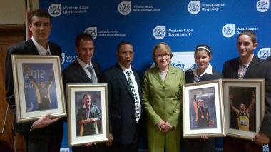 Premier Zille Hosts Western Cape Paralympians