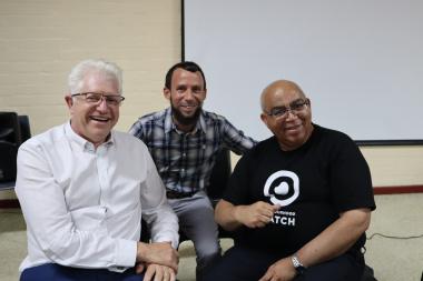 Premier Alan Winde, Reagen Allen MPL and Minister Albert Fritz
