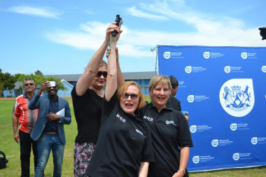 Premier Zille and Ministers Marais and Schafer fired the starting gun for the athletics