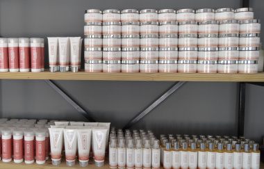 Products on display at the studio