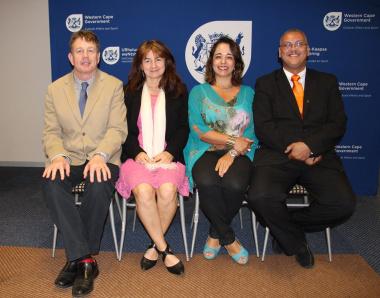 Professor Joe Maguire, Professor Marion Keim (UWC), Professor Ana Claudia Porfirio Couto and Adv. Lyndon Bouah (DCAS).