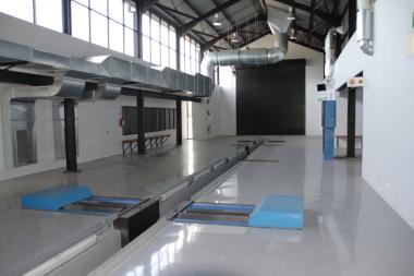 Inside new building (pit-EOV)