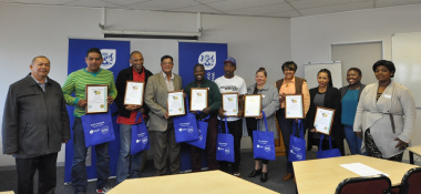 Proud course participants with representatives of the Department and SANTACO Western Cape.