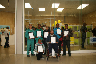 Proud crafters with their certificates.