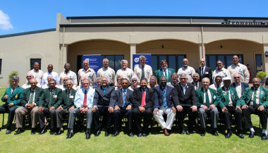 Proud Sport Legends of 2013 with representatives of the Department.