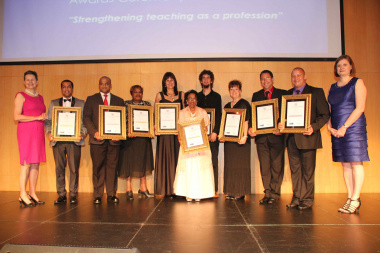 Provincial Teacher Awards 2014 winners