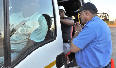 Provincial Traffic Chief Kenny Africa encouraging commuters to be alert to road safety risks.