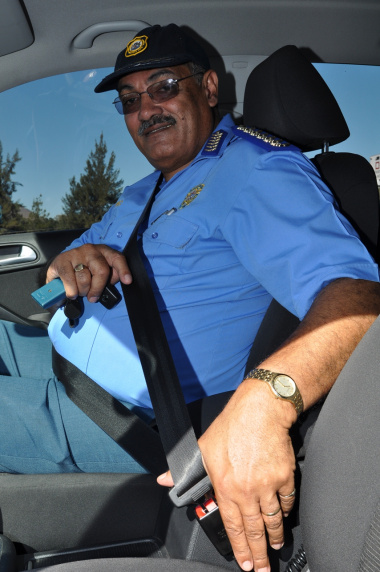 Provincial Traffic Chief Kenny Africa uses a seatbelt.