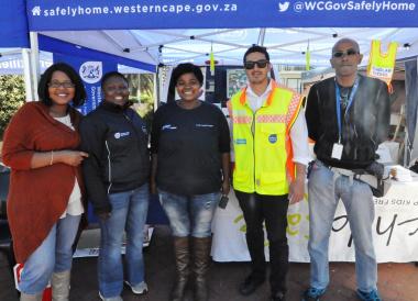 Pumla Ntambeka (ChildSafe), Zikhona Sikatele, Buyelwa Mboya, Heinrich Robertson and Anthony September.