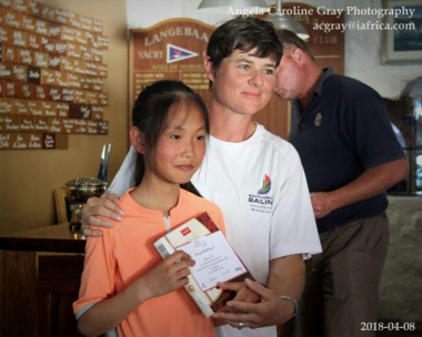 Qu Zijiao won 3rd prize at the Western Cape Sailing Championship