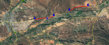 The portions highlighted in red will be open to only one lane of traffic at a time.