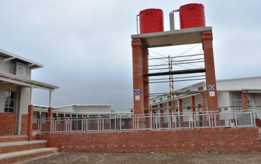 Rainwater tanks for irrigation purposes.