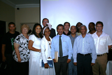Some of the people who attended the event in Franschhoek.