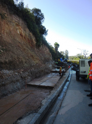 Retaining wall base in Knysna.