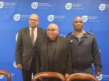 Reverend  Sampson, Minister Fritz and Major General Manci