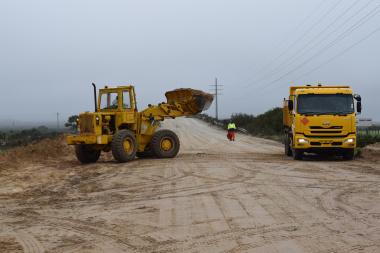 Roadworks near St Helena Bay