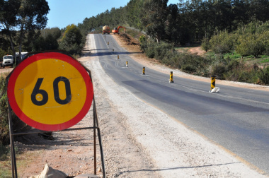 Roadworks on the R321