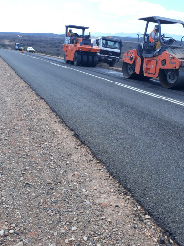 Roadworks on the R62