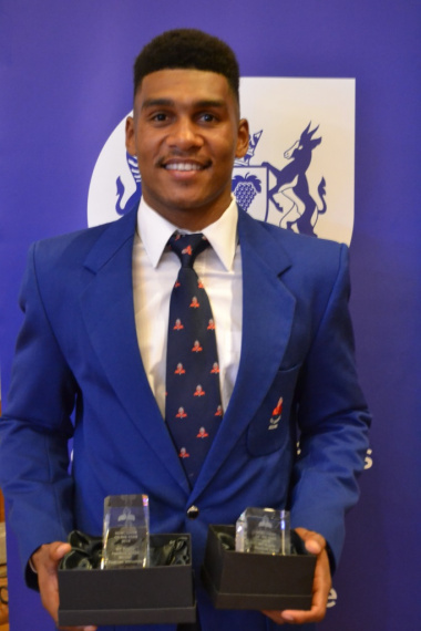 Rugby player Damian Willemse was the winner in the newcomer of the year category at the Cape Town Metro Sport Awards