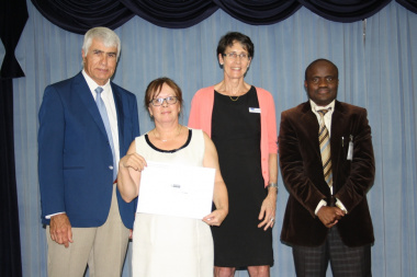 From left: Prof. Craig Househam (Western Cape Head of Health), Mrs Sandra Roodt (Head of Nursing at Red Cross War Memorial Children's Hospital), Dr Beth Engelbrecht (Deputy-Director General: Chief of Operations, Western Cape Government Health) and Dr Mato