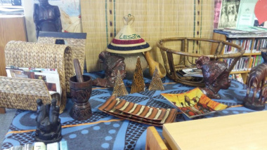 Several African artefacts were on display at the different libraries
