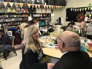 Sewing ,Craft & Design team visited by Minister