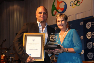 Shane Overmeyer received a Ministerial Commendation award from Minister Anroux Marais