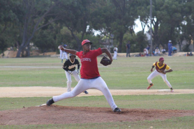 Sheldon Trosky in action during a Baseball Game