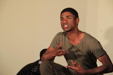 Shu-aib Isaacs showing his skill as a young Brendon Daniels