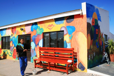Siyabonga Care Village gets spruced up by local artists.