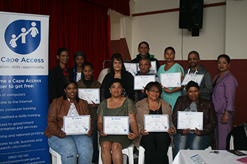 Slangrivier e-Centre graduating group 2