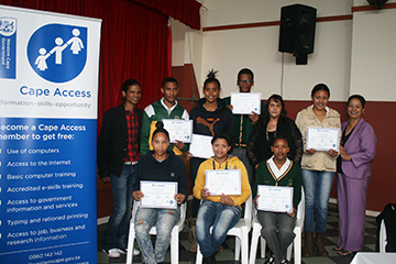 Slangrivier-e-Centre graduating group 4